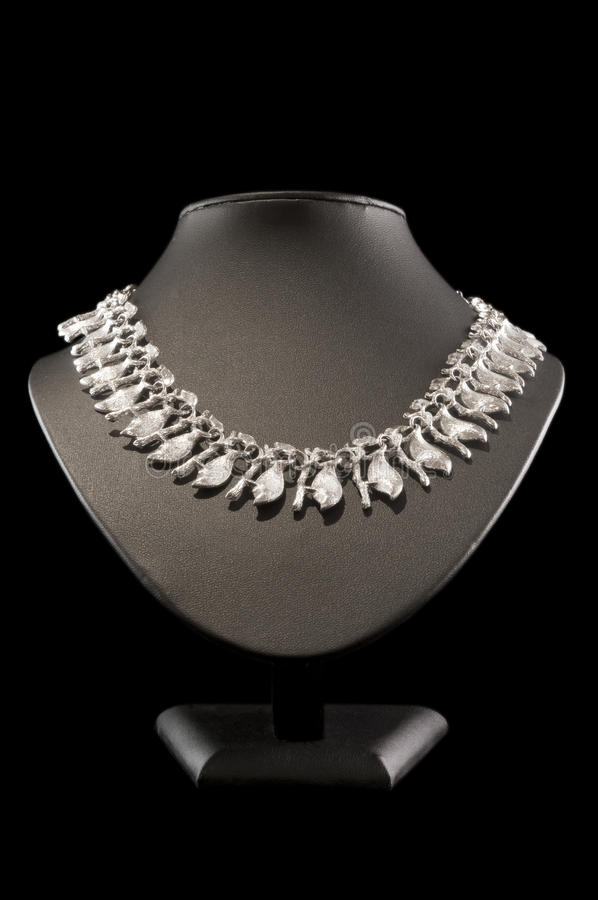 Free Silver Necklace Royalty Free Stock Photo - 18317415