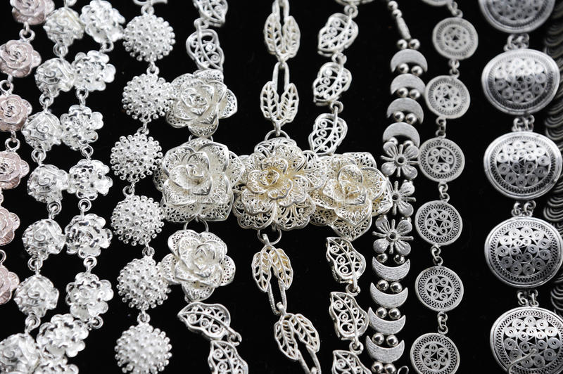 Download Silver Necklace stock image. Image of colors, crafts - 25434141
