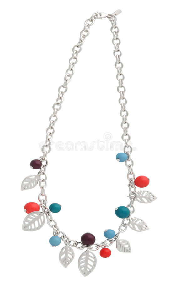 Silver necklace vector illustration