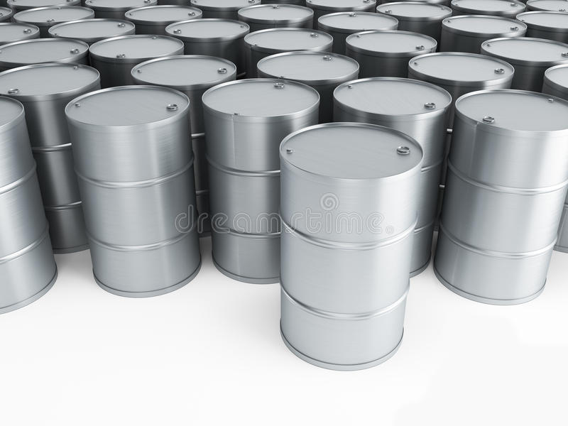 Download Silver Oil Barrels Royalty Free Stock Images - Image: 24458619