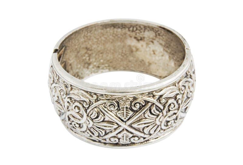Silver old vintage bracelet stock images