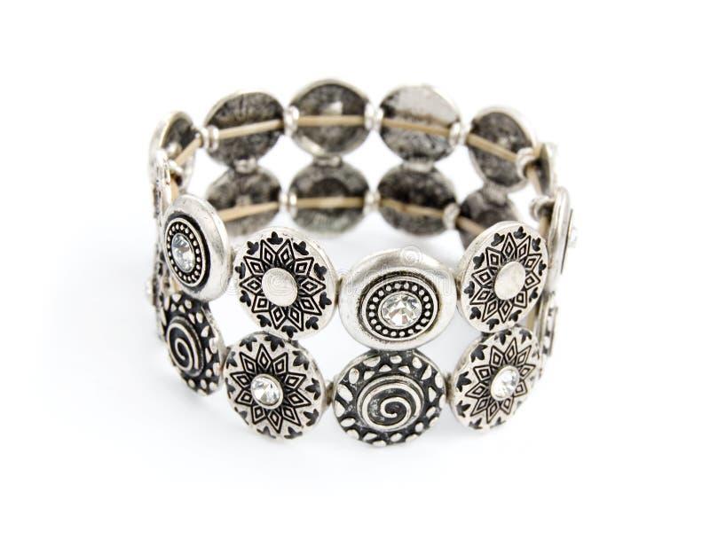 Silver old vintage bracelet stock photos