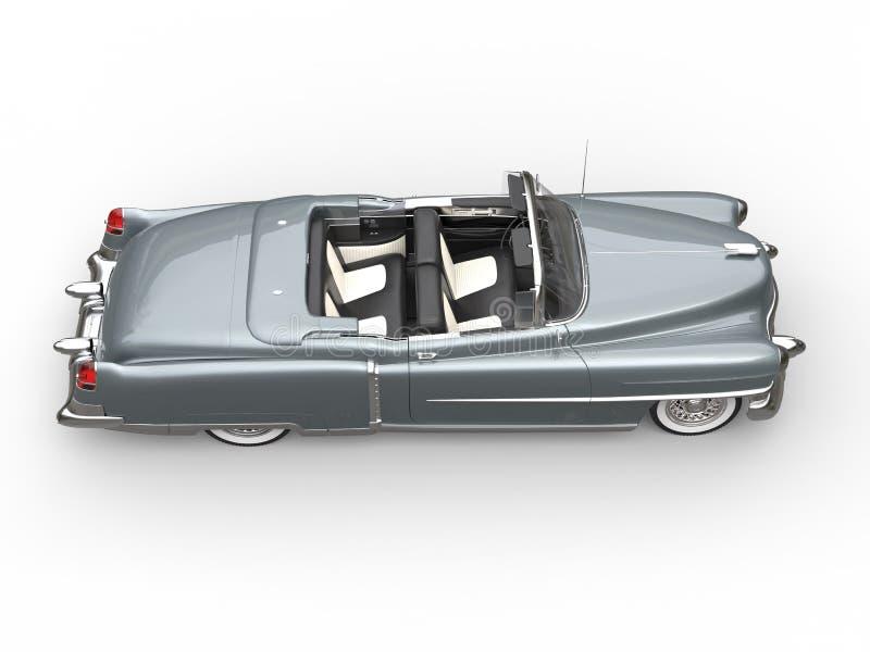 Download Silver Oldtimer Car - Side Top View Stock Illustration - Image: 83717432