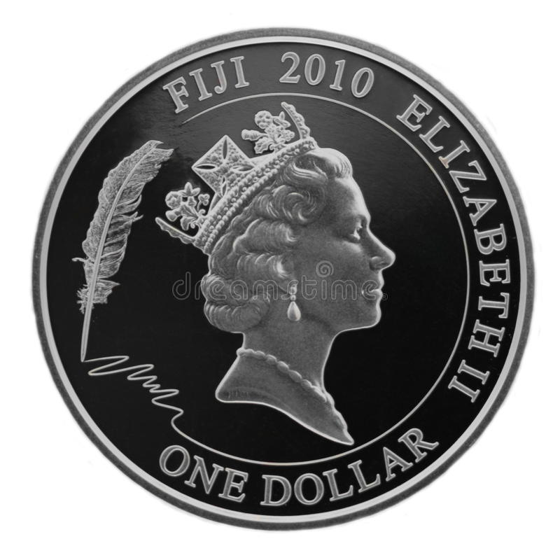 Silver one dollar royalty free stock photo