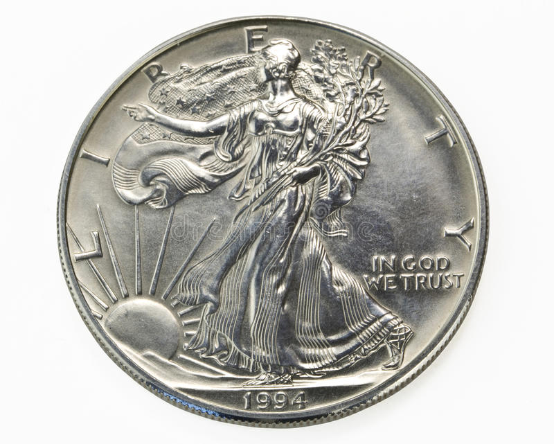Download Silver One Dollar Coin Macro Stock Photo - Image: 16744746