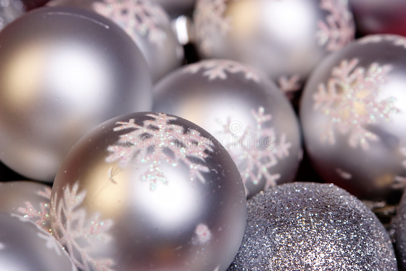 Silver ornament. Background with snowflakes royalty free stock images