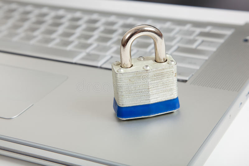 Download A Silver Padlock On A Computer Royalty Free Stock Images - Image: 11418229
