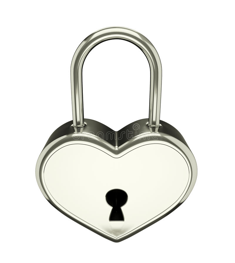 Silver padlock royalty free illustration