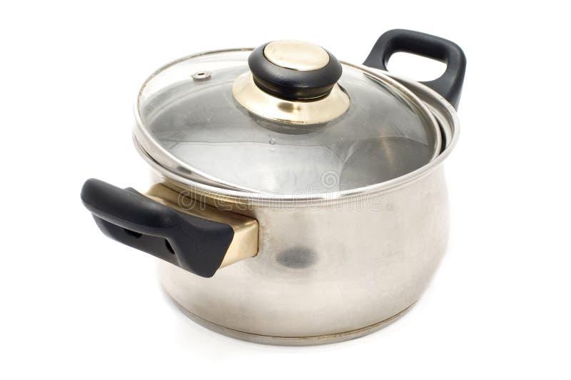 Silver pan stock image