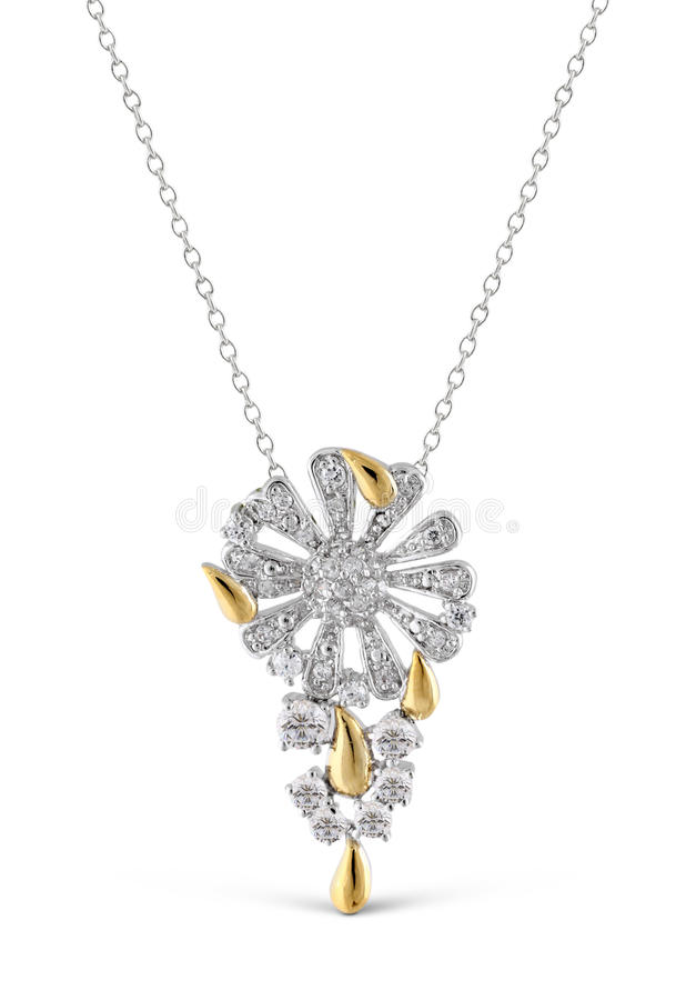 Download Silver Pendant With Brilliant Stock Photo - Image: 22805752