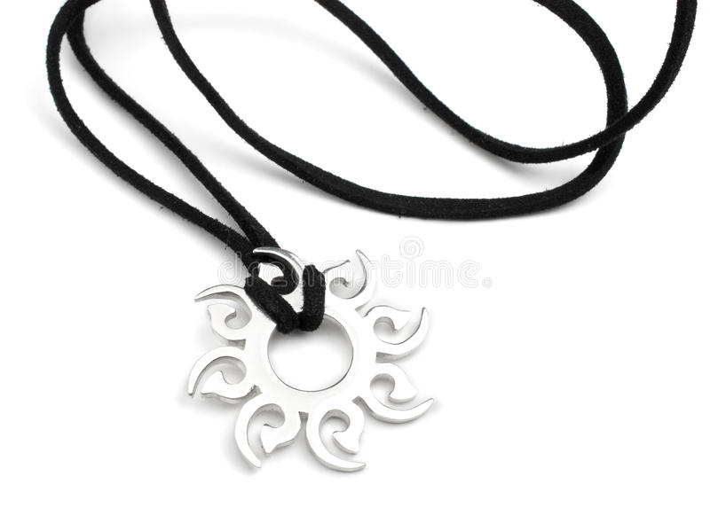 Silver pendant royalty free stock image