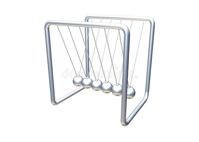 Download Silver pendulum stock illustration. Image of balls, string - 1167179