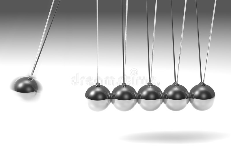 Download Silver pendulum stock illustration. Image of bounce, sphere - 1180926