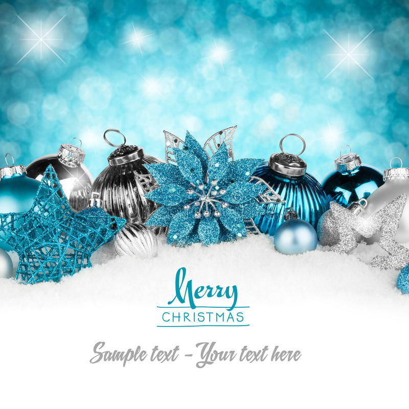 Free Silver Petrol Christmas Card Stock Photos - 35652773