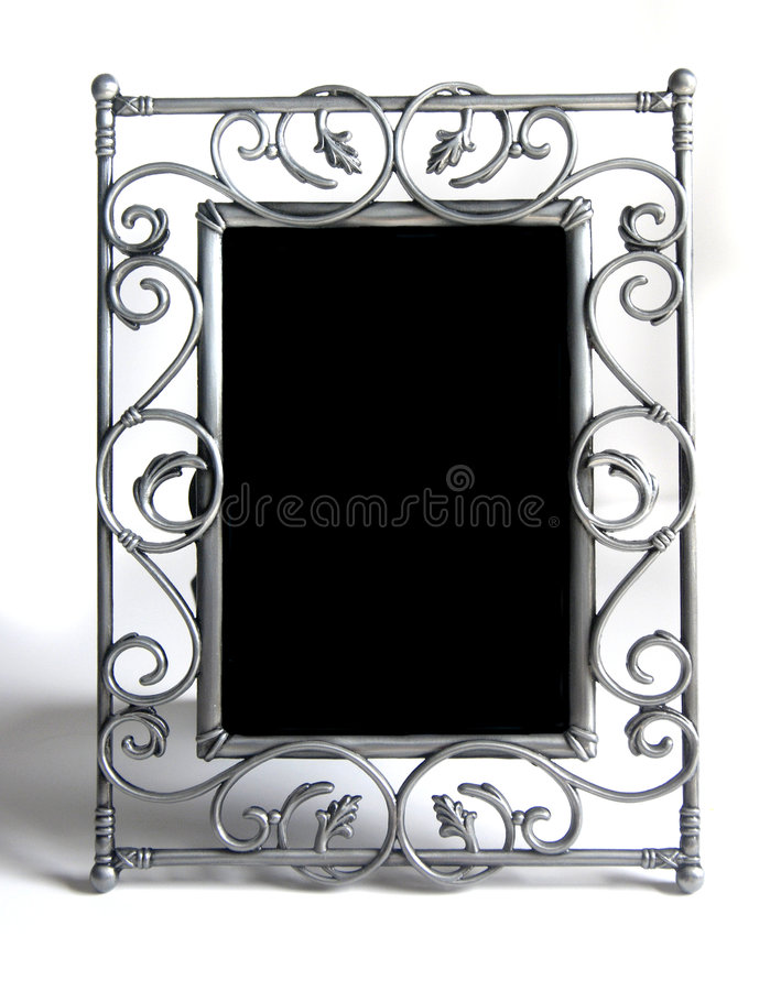 Free Silver Photo Frame On White Stock Images - 5884994