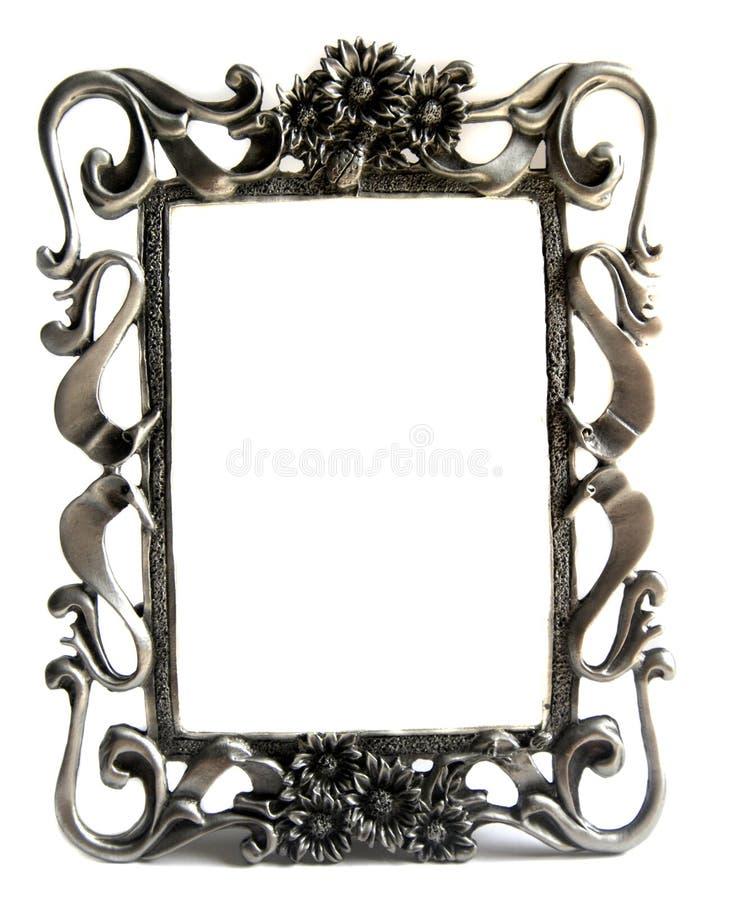 Free Silver Photo Frame On White Stock Photography - 6048672