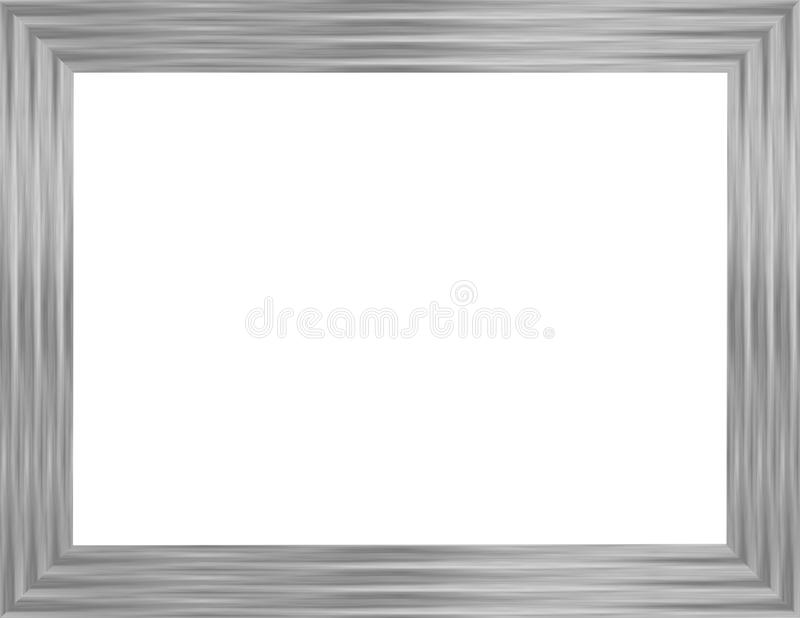 Silver Picture Frame 1 stock illustration