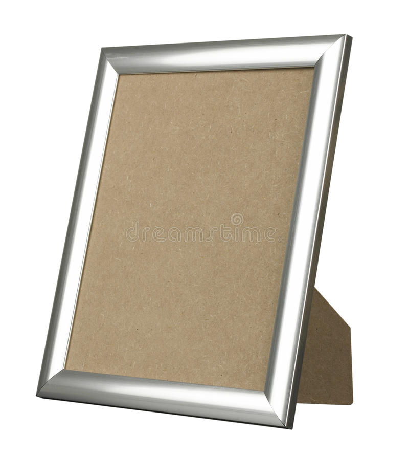 Download Silver Picture Frame Standing Stock Image