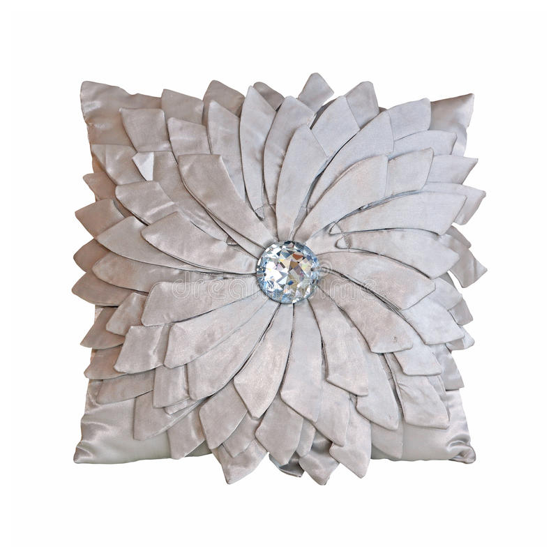 Download Silver pillow stock image. Image of decor, shiny, sparkling - 20966547