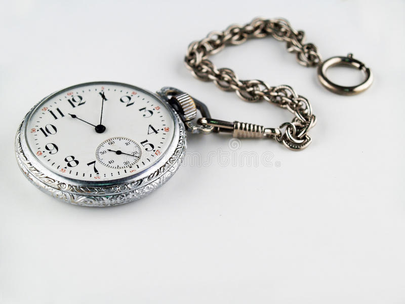 Silver Pocket Watch stock image
