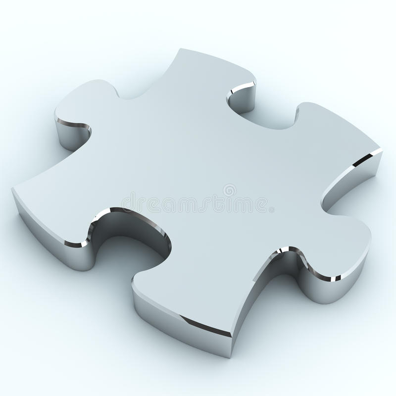 Silver puzzle royalty free illustration