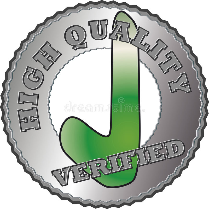 Silver Quality seal royalty free illustration