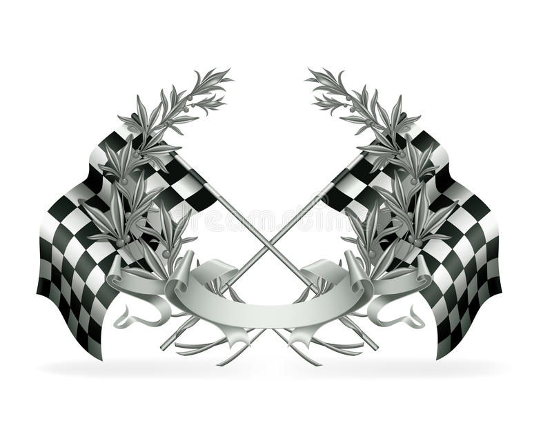 Download Silver Racing Emblem stock vector. Image of best, check - 20113352