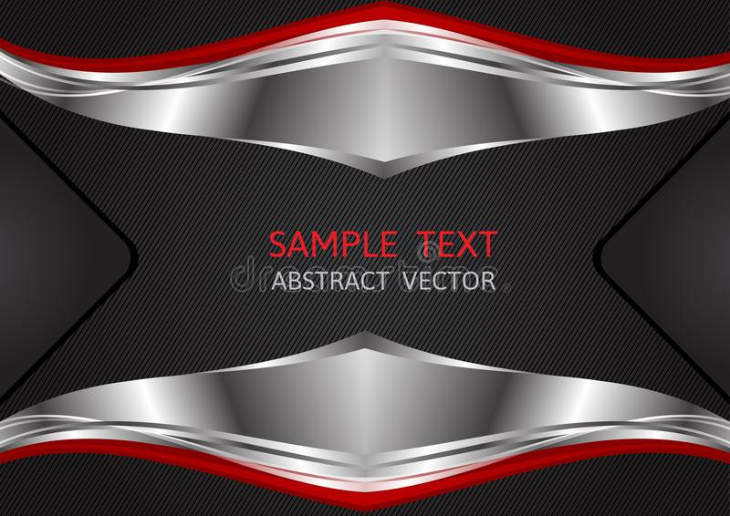 Silver, Red and Black color, geometric abstract vector background.  royalty free illustration