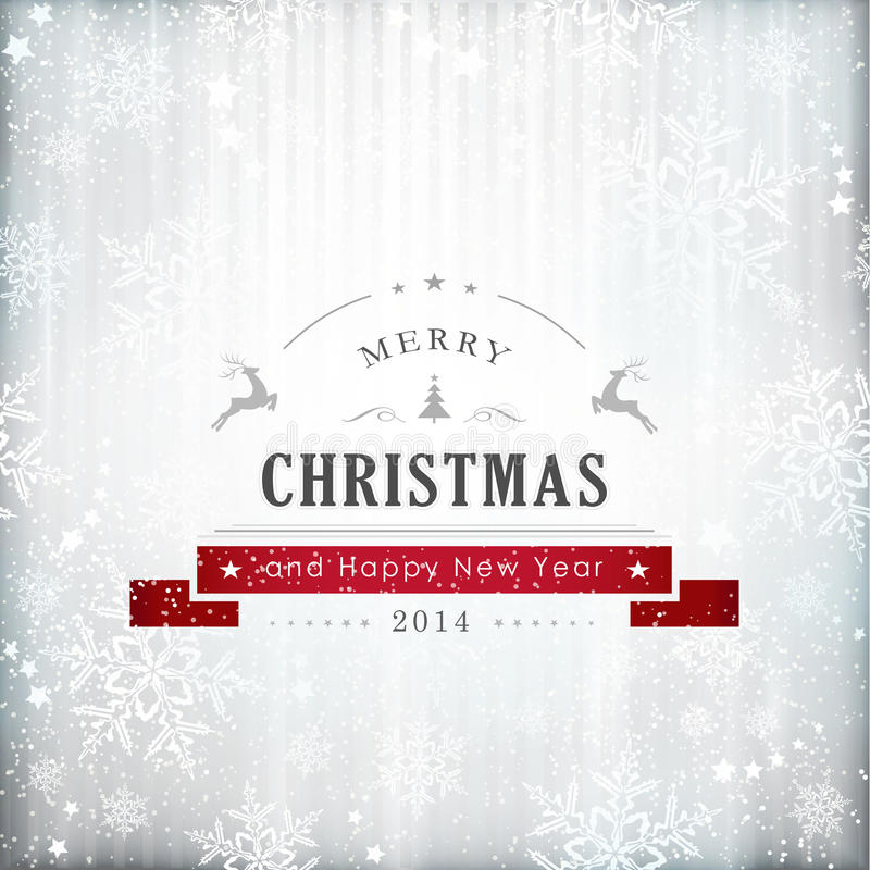 Silver red Christmas card royalty free illustration