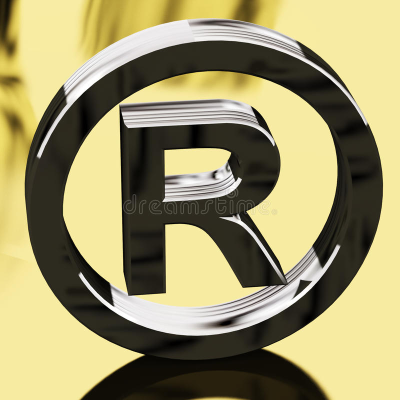 Silver Registered Sign Representing Patented royalty free illustration
