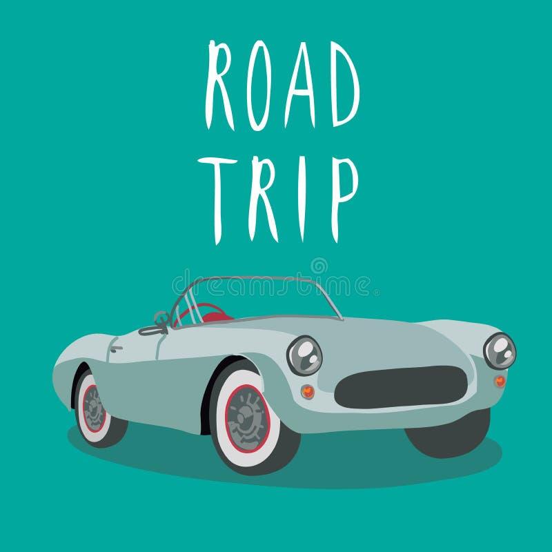Silver retro sport car . Vector illustration. Cartoon car stock photos