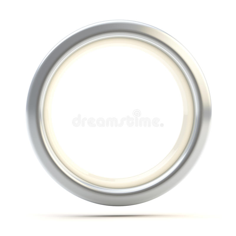 Free Silver Ring Copyspace Torus Isolated Stock Image - 24684011