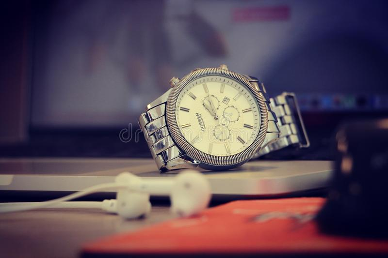 Silver Round Chronograph Watch Free Public Domain Cc0 Image