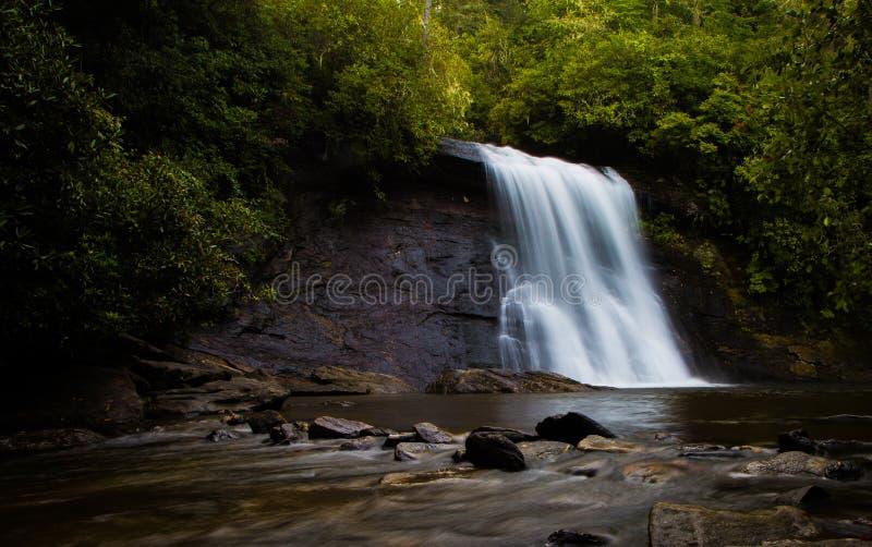 Silver Run Waterfall in the Morning. Light stock image