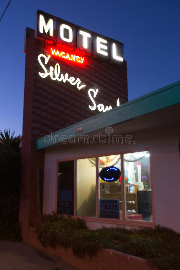 Silver Sands 1950's Americana Motel stock photography