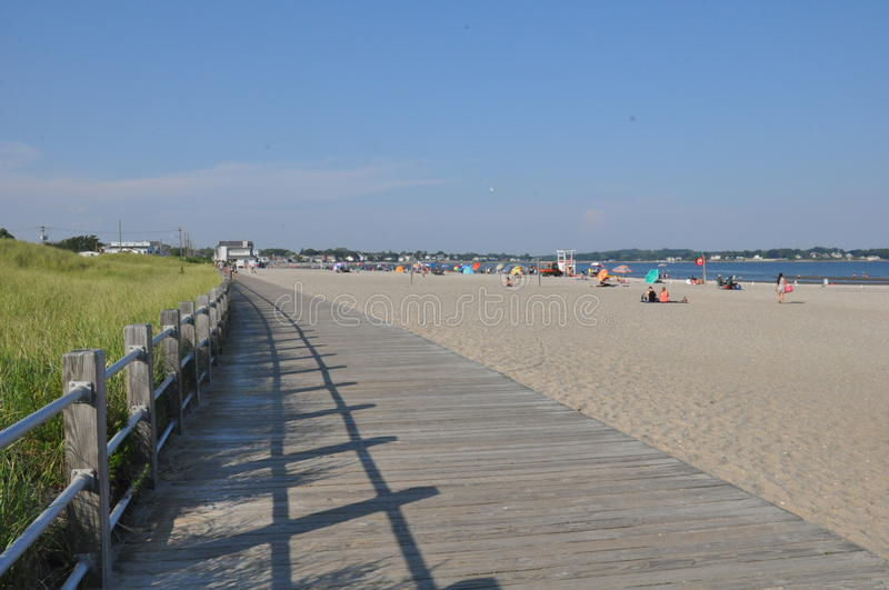 Silver Sands State Park in Milford, Connecticut royalty free stock image