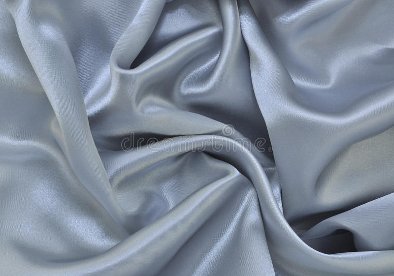 Silver Satin. Crumpled Silver Satin. Can use as background stock photo