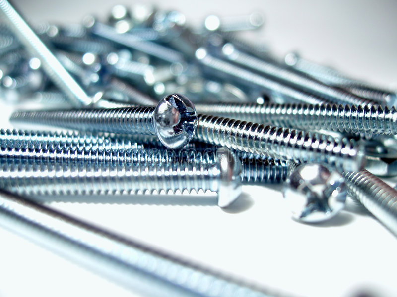 Download Silver screws stock photo. Image of thread, silver, parts - 48178