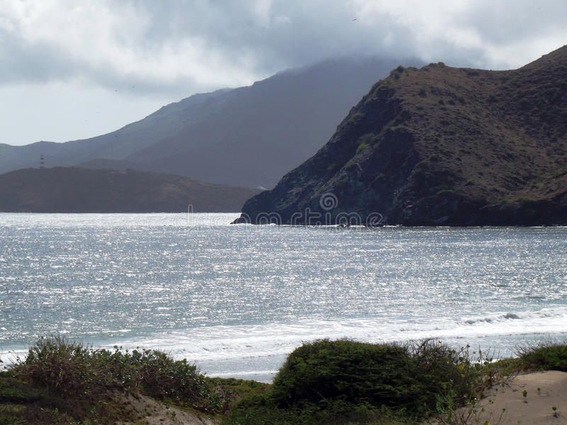 Silver sea stock image