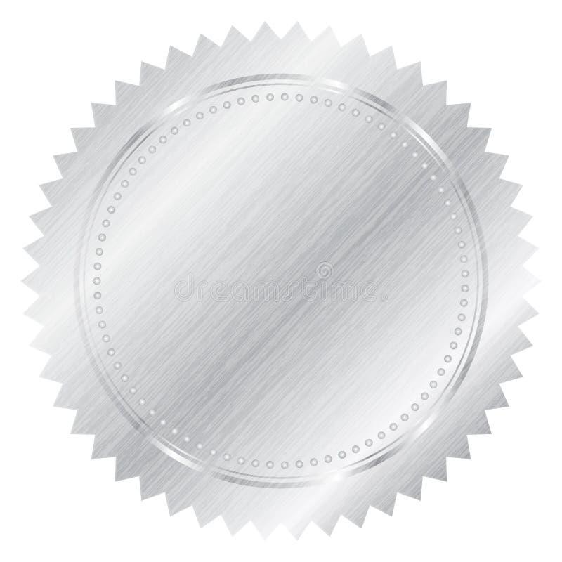 Silver seal royalty free illustration