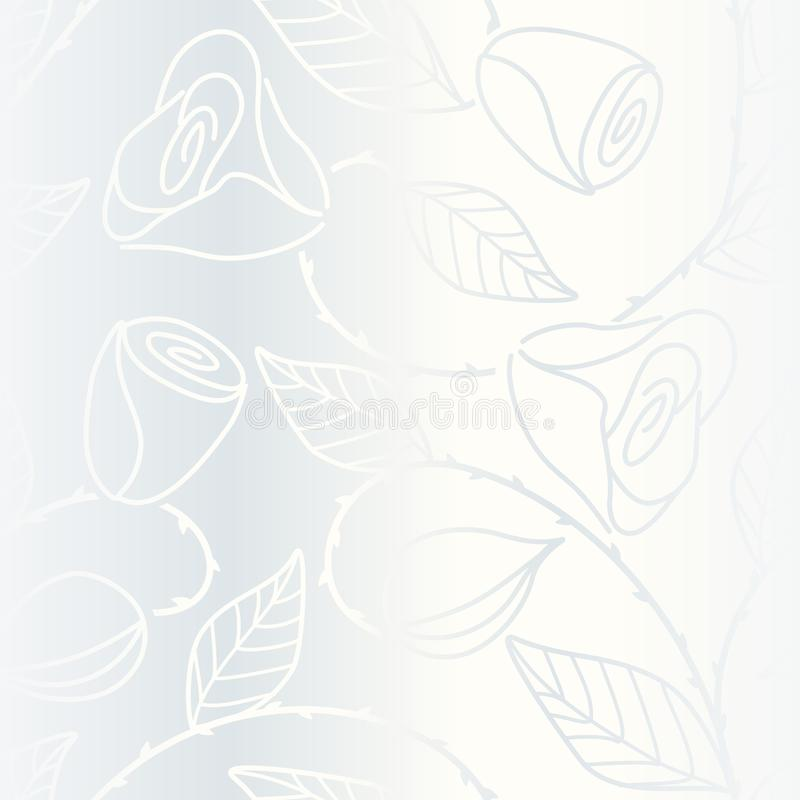 Download Silver Seamless Hand Drawn Pattern With Roses Stock Vector - Image: 12851698