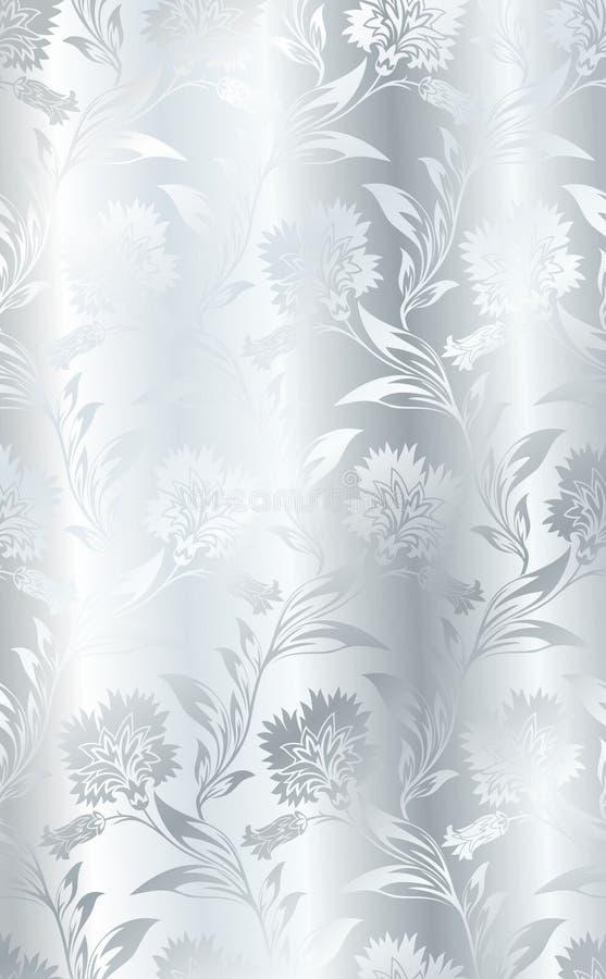 Silver seamless silk. Style texture stock illustration