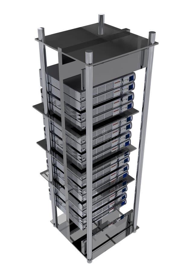 Silver Servers Rack vector illustration