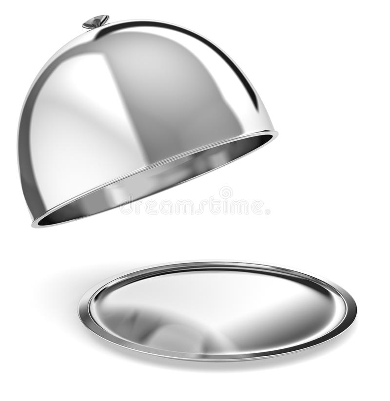 Download Silver serving tray stock illustration. Image of serving - 26213688