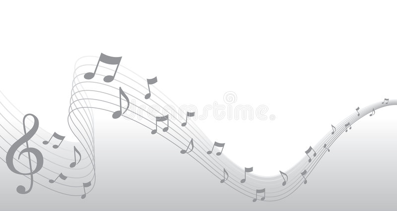 Silver Sheet Music Page Border vector illustration