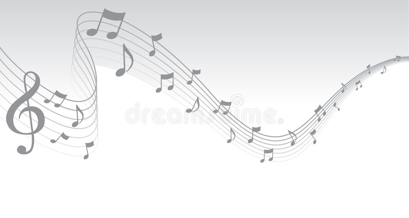 Silver Sheet Music Page Border Royalty Free Stock Photos