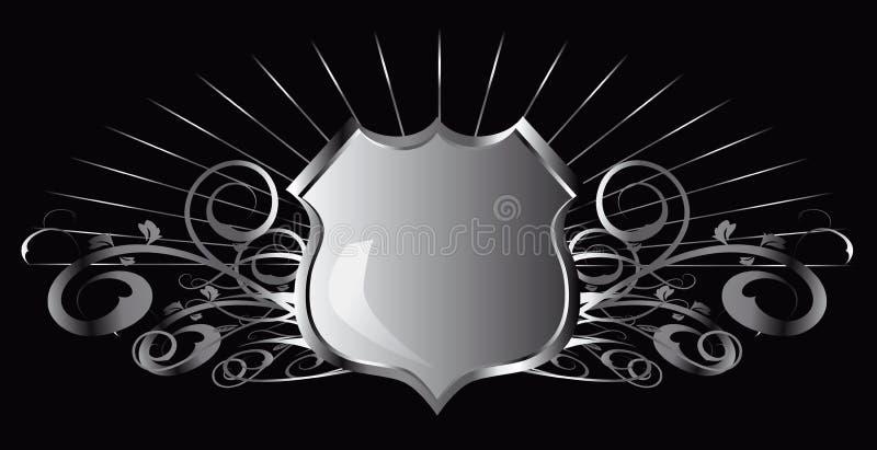 Silver shield vector illustration