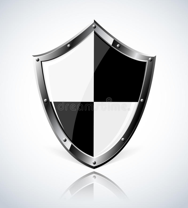 Download Silver Shield With Reflection Stock Vector - Image: 26256594