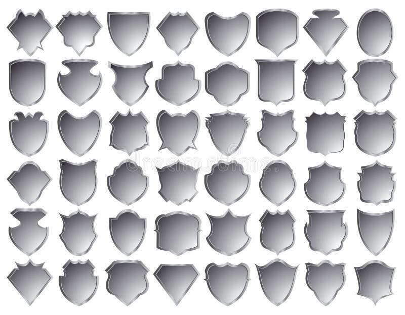 Silver shields stock illustration