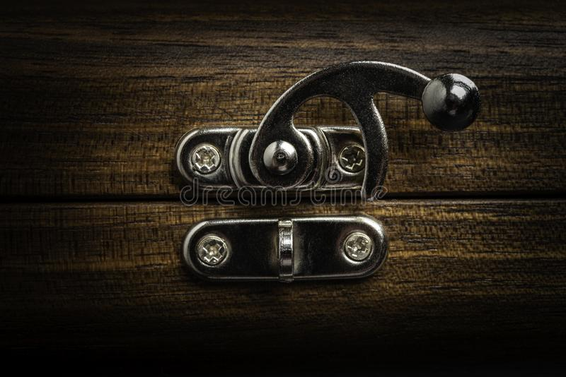 A Silver Sliding Lock Latch royalty free stock image